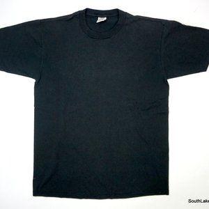 Jerzees USA VTG Single Stitch Blank T-Shirt Black